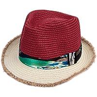 HY-Visor Male and female children's straw hat summer travel sunscreen little boy beach hat baby sun hat little girl sun hat