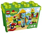 LEGO 10864 Duplo My First Large Playground Brick Box Construction Set, Easy Toy Storage, Preeschool Toys for Kids 2-5