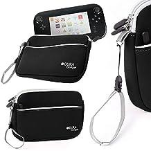 DURAGADGET Funda Protectora Negra Para Consola WiiU - Con Bolsillo Externo Y Cuerda De Quita Y Pon - Hecha En Neopreno De Alta Calidad