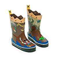 Kidorable Original Branded Pirate Rubber Rain Boots Wellies for Little Boys Girls Kids Children Toddlers (UK 6)