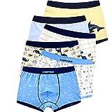 LeQeZe 6 Pack Kinder Jungen Boxershorts Unterwäsche Junge Boxer Unterhose Baumwolle Schlüpfer 2-11 Jahre Größe 86-146 (Boys 6 Pack/02, 2-3Jahre)