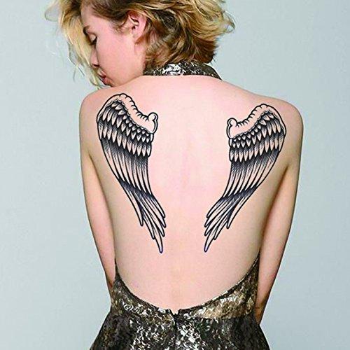 Einmal Tattoo Engelsflügel Temporary Tattoo wasserfest Angel Wings Punk Gothic (Tatoo Engelsflügel)