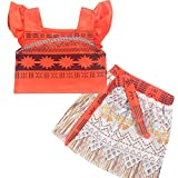Ears Baby Clothes Summer Baby Girl Outfits Clothes 1PC Tops+1PC Skirt Toddler Kids Baby Girl Sleeveless Princess Skirt Sets Clothes Dress up Outfits (130, Orange) Bild