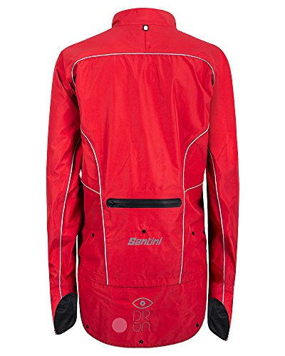 Santini 365 SP50075DR - Santini DRUN Rainproof Jacket Red Rouge