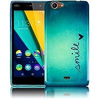 Wiko Pulb Fab 3G/4G 5.5Zoll Funda de silicona suave carcasa Bumper funda con tapa para smartphone teléfono Back Cover thematys®