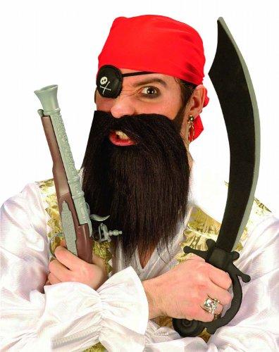 ümset Pirat, Bart, Augenklappe, Kopftuch (Rotes Piraten Bart Und Schnurrbart)