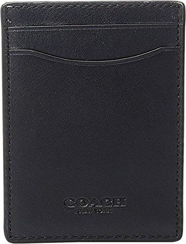 COACH Men's Sport Calf 3-in-1 Card Case Midnight Coin or Card Case