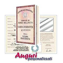 Idea Regalo - Biglietto carta d'identità pensionata