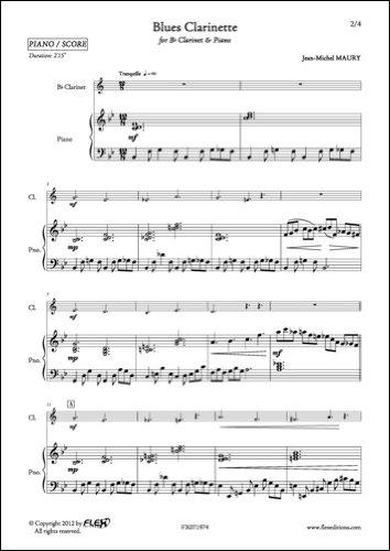 PARTITION CLASSIQUE - Blues Clarinette -...