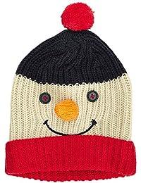 The Christmas Workshop Unisex 3D Snowman Face Christmas Beanie Hat