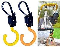 6034 360 Degrees Rotating Multifunctional Baby Pram Hook Carriage Hanger Hook 2Pcs