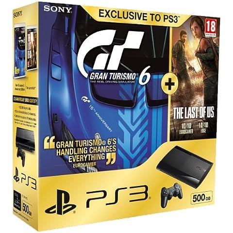 Sony Playstation 3 500 GB Super Slim Console With Gran Turismo 6 Plus The Last Of Us (PS3) [Importación