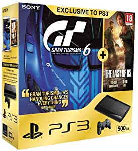 Sony PS3 500GB Super Slim Console with Gran Turismo 6 Plus The Last of Us (PS3)