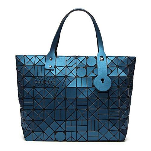 DHFUD Damen Schultertasche Einkaufstasche Ling Laser-Laser-Tasche Mode Blue