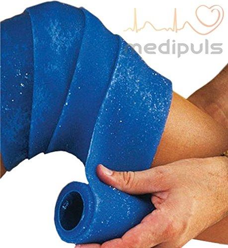 Kühlbandage [8x180 cm] Wiederverwendbar Ohne Vorkühlung einsetzbar zurechtschneidbar Hand Knie Fuß Bein Knöchel Gelenke Kühlverband Kühlbinde Verband Tiere Pferde Hunde kühlende Bandage