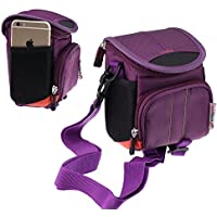 Navitech Purple Protective Portable Handheld Binocular Case and Travel Bag Compatible with The Leica Geovid 8 x 56 HD-B 3000