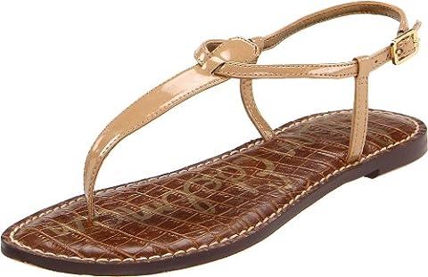 Sam Edelman Gigi, Women's Thong Sandals, Beige (Almond Patent), 4 UK (36 EU) (6 US)