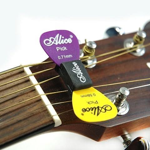 Soporte de púas para guitarras acústicas (compatible con guitarras eléctricas con 3 clavijas de afinación a cada lado)