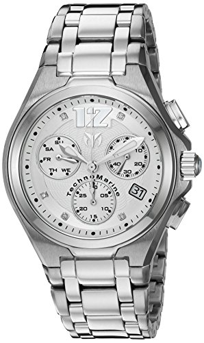 TechnoMarine TM-215012 Orologio da Polso, Display Cronografo, Uomo, Bracciale Acciaio Inossidabile, Argento