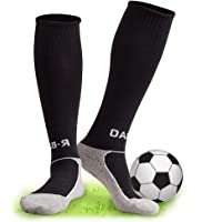 Black Football Socks, XCOZU Childrens Football Socks Kids Breathable Sports Training Accessories, Girls Boys Football…