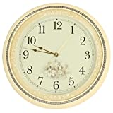 ZHUNSHI Orologio semplice moda creativa muto orologio a pendolo antico pastorale continentale di soggiorno orologio tavolo,10 pollici,A