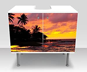 Bathroom Cabinet Beach Sunset Sea Design Cabinet Bathroom M0235vanity Cabinet Front Side