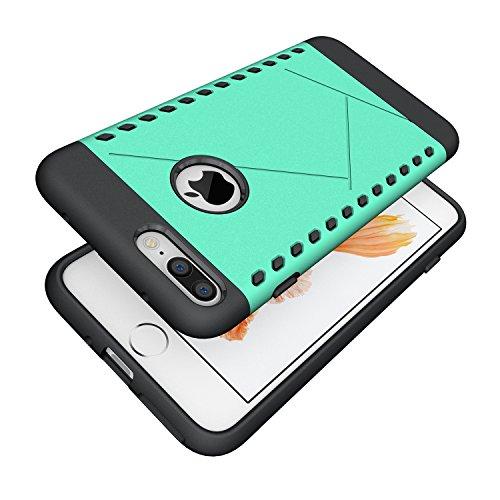 iPhone 7 Plus Coque,EVERGREENBUYING Ultra Slim 2 léger couche IPHONE 7+ Premium TPU Souple Etui de Protection, absorbant les chocs Anti-rayures Case Cover pour Apple iPhone 7 Plus Gris Bleu