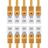 1aTTack.de® Cavo ethernet Gigabit categoria 7con plug RJ45 categoria 6a (doppia schermatura), 500MHz Arancione / 10 pz 1 m