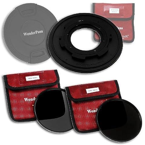 WonderPana 145 Kit ND - 145mm Porte-Filtre, Bouchon d'Objectif, et Filtres ND16 et ND32 pour l'objectif Tokina 10-17mm