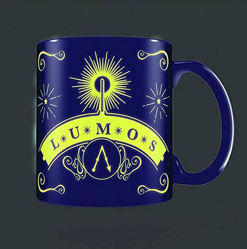 Harry Potter Tasse Lumos Glow in The Dark - dunkelblau/lila, Bedruckt, aus 100% Keramik, Fassungsvermögen ca. 315 ml (Tassen Glow Dark The In)