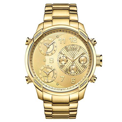 JBW Diamante Hombre Acero Inoxidable Reloj G4–Oro/Oro