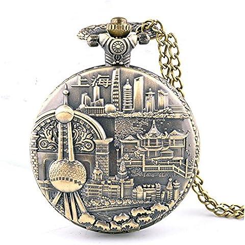 Reloj de bolsillo collar Retro de moda