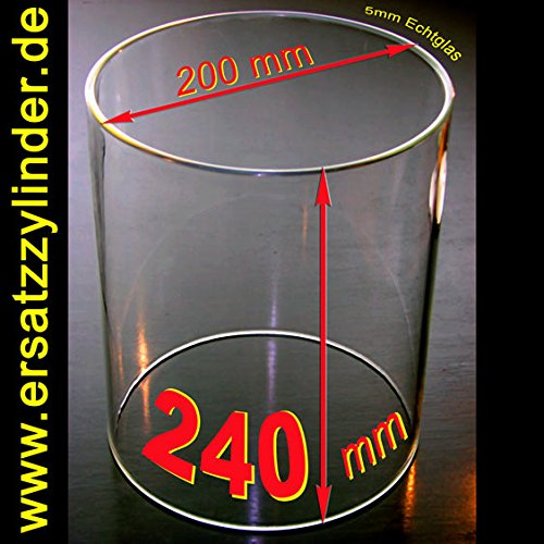 Ersatzglas Würstchenwärmer D=200mm/ H=240, Qualitätsvorteil: Bestes Jenaer Glas