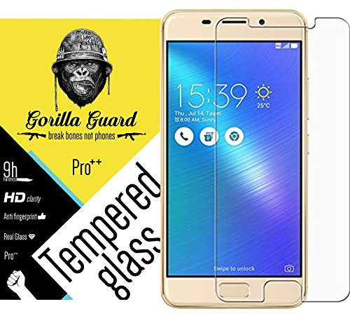 Gorilla guard's Pro quality screen guard for Asus Zenfone 3s Max with HD+ ultra clear edge to edge 9H hardness, UV protect & anti-smudge technology TEMPERED glass phone protector  available at amazon for Rs.189