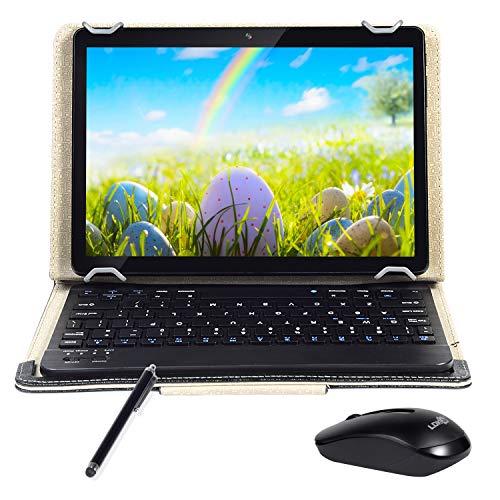 """Android Tablet 10 """"Quad-Core-Prozessor 4 GB RAM und 64 GB Tablet PC WiFi-Speicher GPS-Kamera und Zwei Kartensteckplätze (3G Schwarz)"""