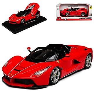 alles-meine GmbH Ferrari Aperta Laferrari Cabrio Rot Ab 2016 1/24 Bburago Modell Auto mit individiuellem Wunschkennzeichen