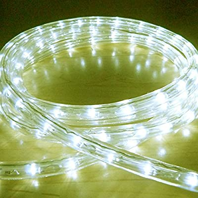 Warm White 10 Metre LED Rope Light, High Quality Outdoor LED Rope Lights which are ideal for Christmas Lights, Xmas Lighting, Garden Lights, etc... (360 LED's and effects such as static, chase, twinkle, fade, etc...)