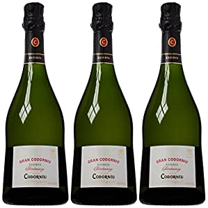Codorniu Gran Chardonnay Reserva Brut Nature Cava NV 75 cl (Case of 3)