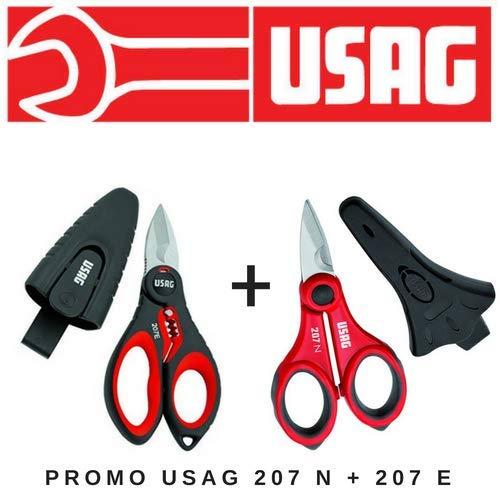 Usag kit forbici professionali elettricisti promo pack 207 n + 207 e u02078022e