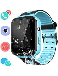 Montre Connectée Enfant IP67 Etanche - AGPS +LBS Tracker écran Tactile Smartwatch Phone Con Appareil Photo Touch SOS Alarme à Distance Les Filles garçons Étudiant (Bleu)