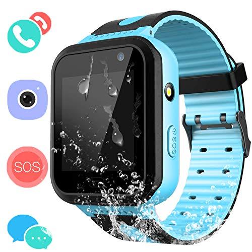 Smartwatch IP67 Impermeable para niños con GPS rastreadores Relojes Inteligentes al Agua...