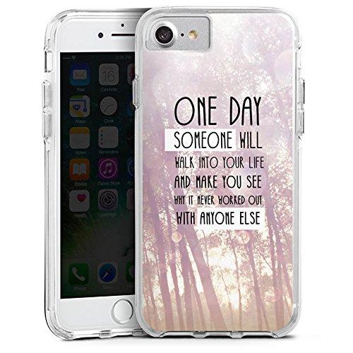 Apple iPhone 6 Plus Bumper Hülle Bumper Case Glitzer Hülle Lebensweisheit Pastel Pastell Bumper Case transparent