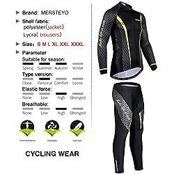 jersey Ropa De Ciclismo para Hombre Conjuntos Ropa De Manga Larga Ropa De Ciclismo Ropa Casual Deportiva Al Aire Libre L