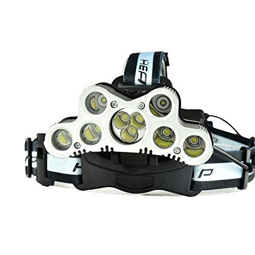 Zantec CREE XML-T6 + CREE XPE Lampe frontale puissante avec sifflet d'appel SOS USB Rechargeable pour l'activité de plein air Chasse Spéléologie de pêche