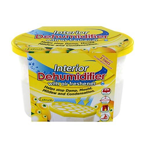 Déshumidificateur intérieur avec désodorisant - Parfum citron - Aide à arrêter l'humidité