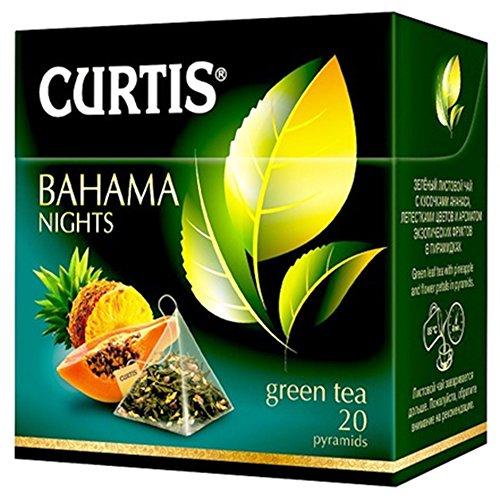 Curtis grüner Tee Bahama Nights 20 Pyramidenbeutel Pyramid Tea
