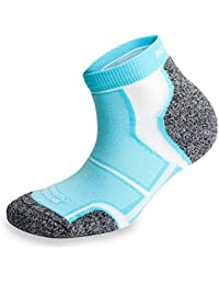3 Pairs More Mile New York Cushioned Coolmax Sports Running Sock - Light Blue