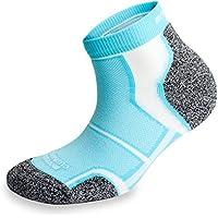 More Mile - Calcetines para correr con almohadillas Coolmax (3pares, color azul claro)