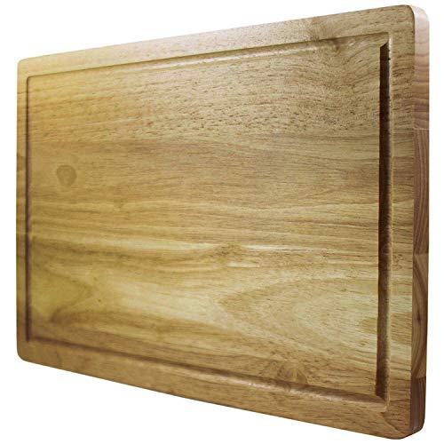 Planche à découper Chef Remi - Remplacement garanti à vie - Meilleur bloc à découper - Grand ustensile de cuisine 41x25 cm - Plus solide que le plastique ou le bambou - Approuvé par les bouchers