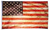 Flaggenking USA Vintage Retro - Stars und Stripes - wetterfest Fahne/Flagge, Mehrfarbig, 150 x 90 x 1 cm
